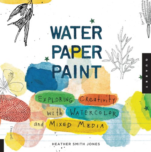 Water paper paint watercolor mixed-media book